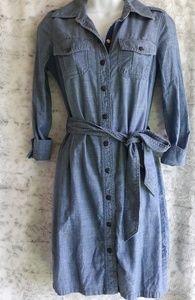 Tory Burch| Brigitte Chambray Button Shirt Dress